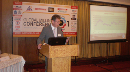 Roger Gilbert at the 1st Global Milling Conference, 2013
