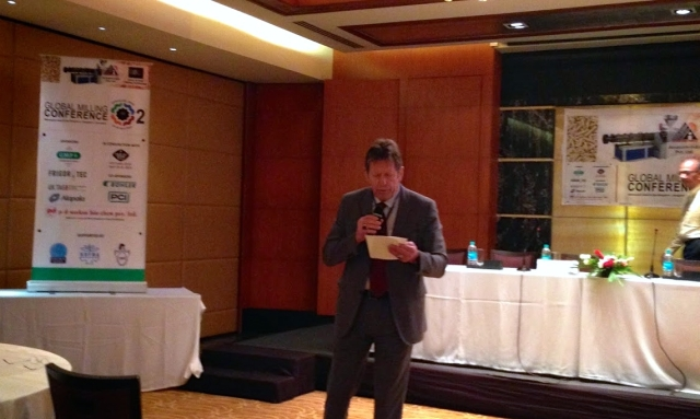 Roger Gilbert from the International Milling Directory speaks at the 2nd Global Milling Conference, Bangalore, India on April 24th 2014