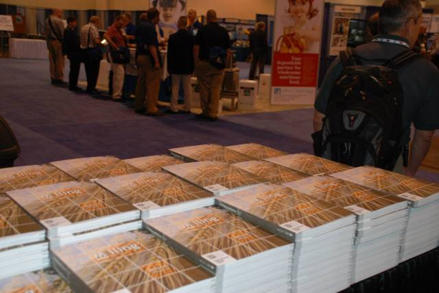 A table full of hundreds of International Milling Directories